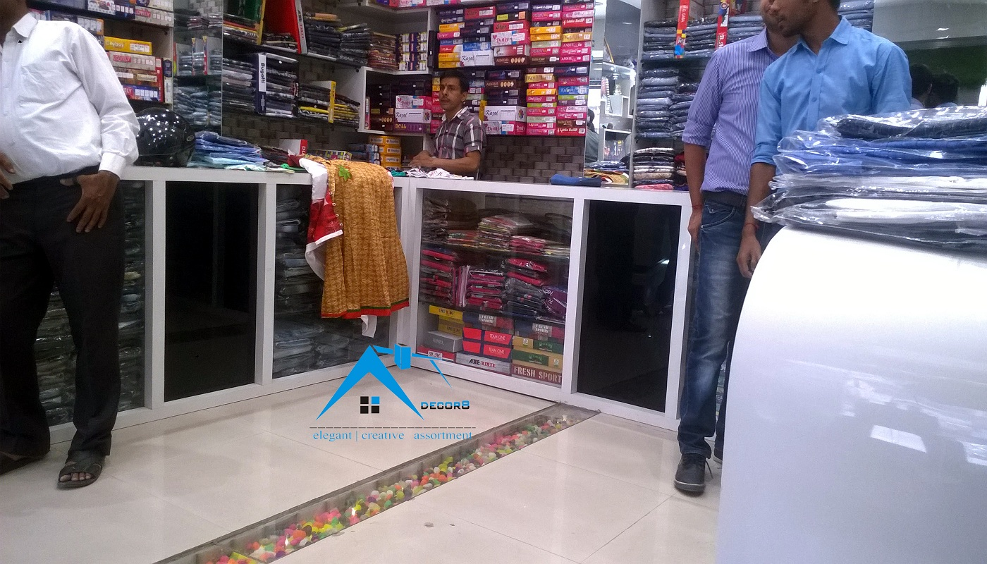 garments showroom interior design